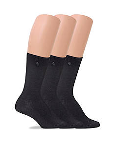 Lauren Ralph Lauren Tipped Rib Trouser Socks - 3 Pack
