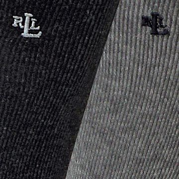 Lauren by Ralph Lauren: Charcoal Lauren Ralph Lauren Tipped Rib Trouser Socks - 3 Pack