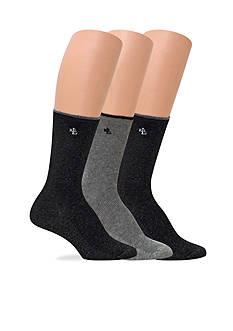 Lauren Ralph Lauren Tipped Rib Trouser Socks - 3 Pack