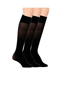 Lauren Ralph Lauren Opaque Microfiber Trouser Socks - 3 Pack