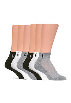 Ralph Lauren Blue Label Sport Quarter Socks - 6 Pack
