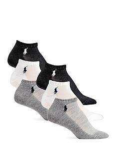 Polo Ralph Lauren Cushion Sole Mesh Top Sport Socks - 6 Pack