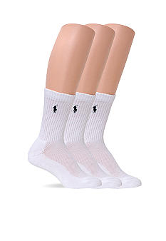 Ralph Lauren Blue Label 3 Pack Crew Socks