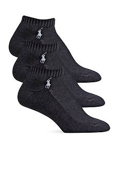 Polo Ralph Lauren Cushion Sole Mesh Top Sport Ped Socks - 3 Pack