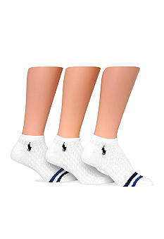Ralph Lauren Blue Label Stripe Cable 3 Pack of Socks with Polo Player Embroidery