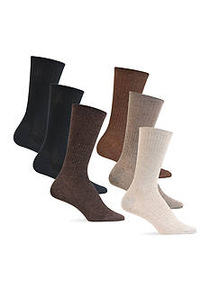 Lauren Ralph Lauren Ribbed Trouser Socks - 6 Pack