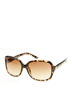 Nine West Rectangular Metal Hinge Sunglasses