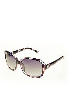 Nine West Metal Hinge Rectangular Sunglasses