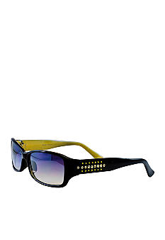 Nine West Stones and Studs Plastic Rectangle Sunglasses
