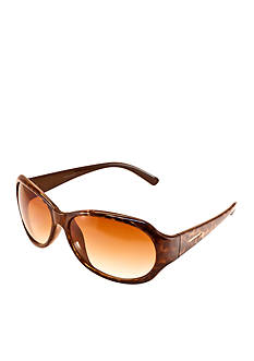 Nine West Plastic Modified Oval Sunglasses