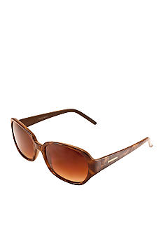 Nine West Plastic Sculpted Oval Sunglasses