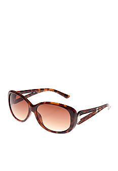 Nine West Plastic Oval Sunglasses