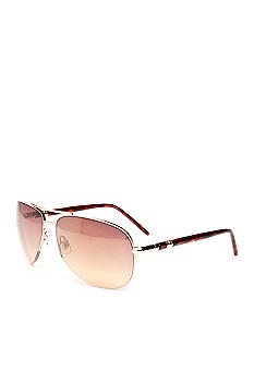 Nine West Semi Rimless Aviator Sunglasses
