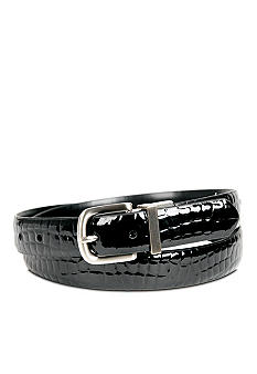 Kim Rogers Croco Black Reversible Belt