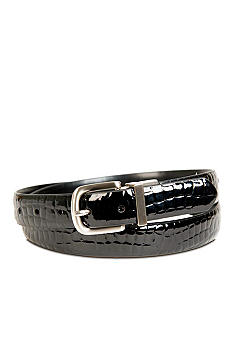 Kim Rogers® Croco Brown Reversible Belt