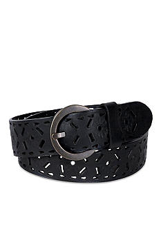 Kim Rogers Perforated Cut Out Belt