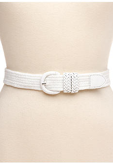 Kim Rogers Stretch Belt with Covered Buckle