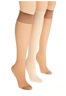 Sheer Knee High with Reinforced Toe