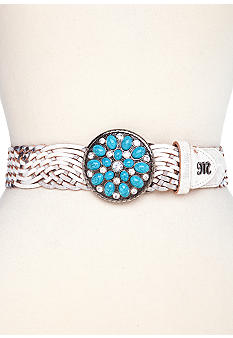 Miss Me Braided Belt with Turquoise Buckle