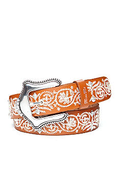 Miss Me 38MM Embroidered Leather Belt