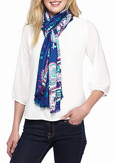 New Directions Paisley Printed Pashmina Wrap