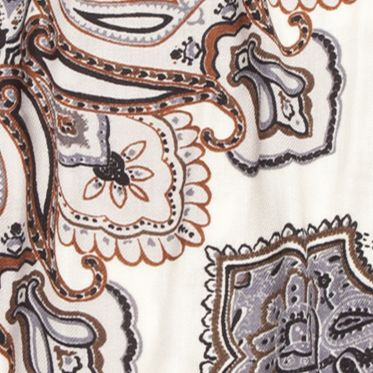 New Directions Juniors Sale: Neutral New Directions Paisley Printed Pashmina Wrap
