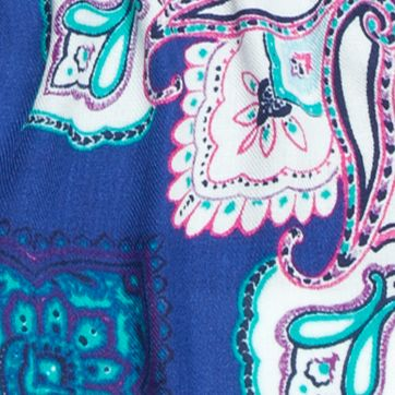 New Directions Juniors Sale: Cobalt New Directions Paisley Printed Pashmina Wrap
