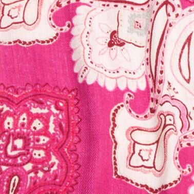 New Directions Juniors Sale: Pink New Directions Paisley Printed Pashmina Wrap
