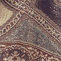 Women's Accessories: Brown New Directions Paisley Wrap
