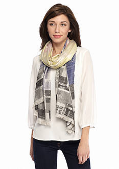 New Directions Square Geo Pashmina Scarf