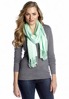 New Directions Solid Satin Pashmina Wrap
