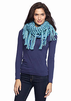 New Directions Spacedye Side Fringe Infinity Scarf