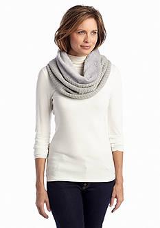 New Directions® Reversible Knit To Fur Foil Print Cowl Scarf