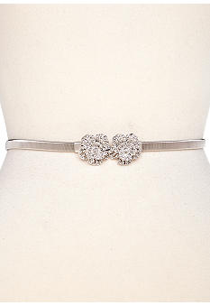 Jessica Simpson Stretch Chain Belt with Flower