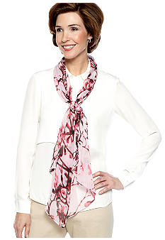 Kim Rogers Photo Tree Cherry Blossom Oblong Scarf