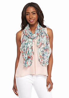 Kim Rogers Ruffle Floral Scarf
