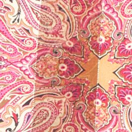 Scarves and Wraps: Brown/Pink Kim Rogers Venetian Paisley Scarf