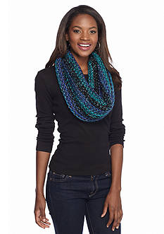 Steve Madden Time to Shine Stripe Lurex Infinity Scarf