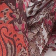 Handbags & Accessories: Cejon Accessories: Maroon Cejon Paisley Infinity Scarf