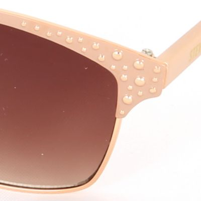 Women: Steve Madden Accessories: Rose Gold Steve Madden Rivit Sunglasses