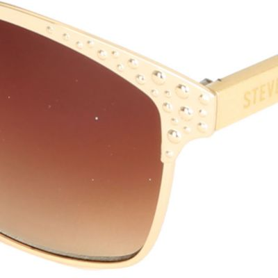 Women: Steve Madden Accessories: Gold Steve Madden Rivit Sunglasses