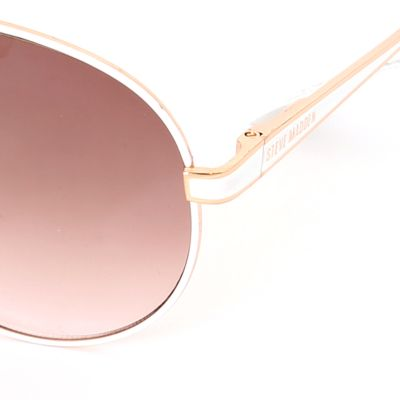 Women: Steve Madden Accessories: Rose Gold Steve Madden Aviator Sunglasses
