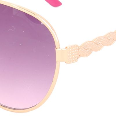 Women: Steve Madden Accessories: White Steve Madden Twisted Temple Aviator Sunglasses