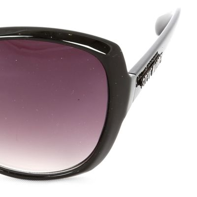 Women: Steve Madden Accessories: Black Steve Madden Cat-Eye Sunglasses