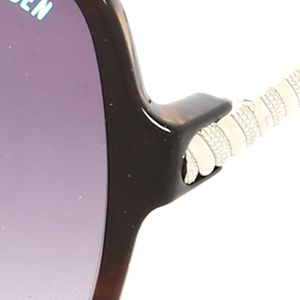Steve Madden Juniors Sale: Black Tortoise Steve Madden Square Twisted Sunglasses