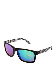 Steve Madden Rectangle Multicolor Mirror Lens Sunglasses