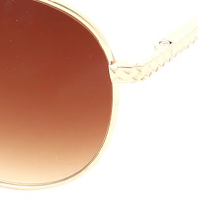 Men: Sunglasses Sale: Gold Steve Madden Aviator Sunglasses
