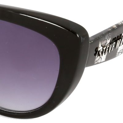 Womens Sunglasses: Black Lace Steve Madden Mod Glam Cat Sunglasses