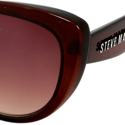 Women: Steve Madden Accessories: Brown Steve Madden Mod Glam Cat Sunglasses