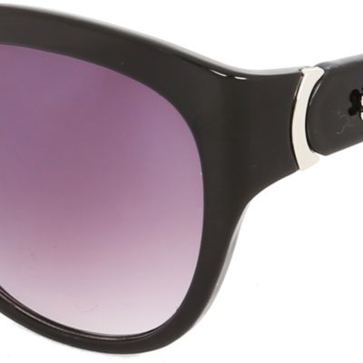 Steve Madden Juniors Sale: Black Floral Steve Madden Oval Sunglasses